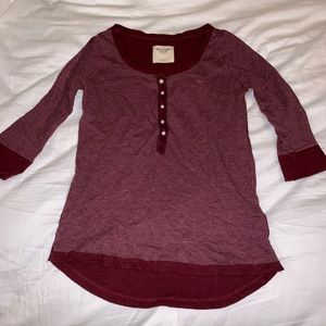 Abercrombie and Fitch Henley top small